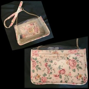bebe-Clear Floral Purse